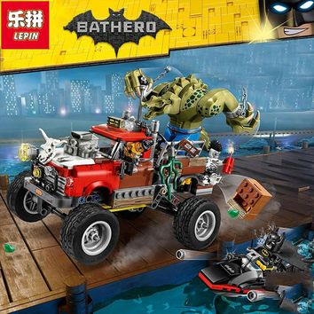 Lepin New 460Pcs 07051 Batman Movie Series The Killer Crocodile Tail-Gator 70907 Building Blocks Bricks Educational Toys