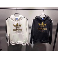 "Women Couple ""Adidas"" Print Hoodie Sweatshirt Tops Sweater Pullover"
