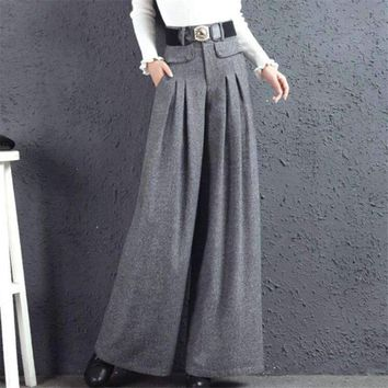 Women Pants Full Length wide-leg Pants