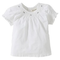 Burts Bees Baby™ Infant Girls' Short-sleeve Voile Top - Cloud