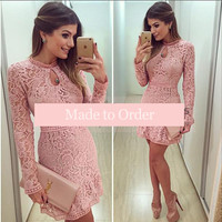 Collections - Pink Lace Dress