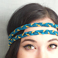 Hippie Headband Braided Indie Headband Boho Hair Accessories