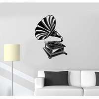 Vinyl Decal Gramophone Music Vintage Room Decoration Wall Stickers Unique Gift (ig2681)