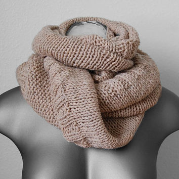 Instant Download Knitting PDF PATTERN - Gracie SoHo cowl scarf neckwarmer - PDF knitting pattern