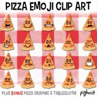 Pizza Emoji Clip Art, Emoticons, Facial Expressions, Pizza Party