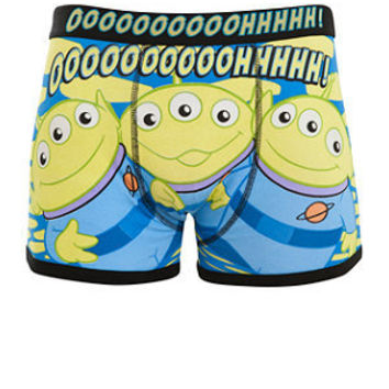 Green and Black Toy Story Alien Boxers