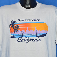 80s San Francisco California Skyline t-shirt Large