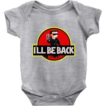 I'll Be Back Terminator Chibi Funny Baby Onesuit