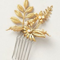 Brass Fleur Comb by Katie Burley Gold One Size Hair