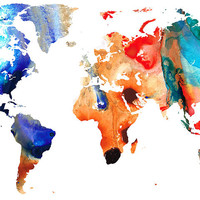 Map Of The World 8 -colorful Abstract Art