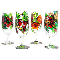 Hand Painted Glass, Summer, Seasonal Collection | Luulla