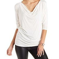 COWL NECK DOLMAN SLEEVE TOP