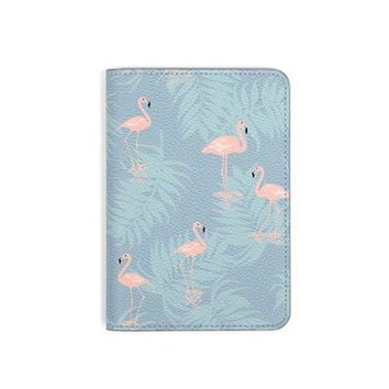 DCCKU62 Animal and Plants Printing PU Leather Travel Passport Cover Fashion Synthetic Leather Short Boarding Card and Ticket Holder