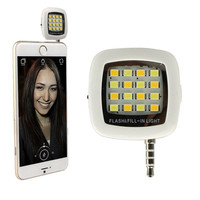2016 Universal Portable Mini 16 Led Night Using Selfie Light Cellphone Camera Flash Fill-in Pocket Spotlight Photo Smartphone