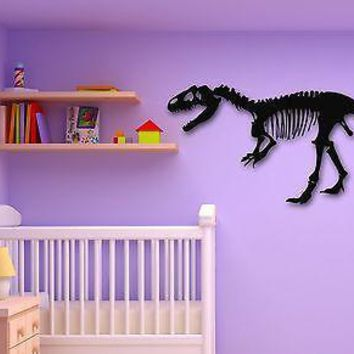 Wall Stickers Vinyl Decal Dinosaur Skeleton for Kids Room Murals Unique Gift (ig771)