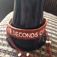 5 Seconds of Summer Leather Bracelet