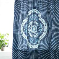 Magical Thinking Neela Batik Shower Curtain - Blue One