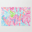 Lets Cha-Cha (Lilly Pulitzer style) Area & Throw Rug by uramarinka | Society6