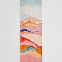 Painted Landscape Print Tapestry | Urban Outfitters