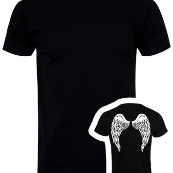 Angel Wings T-Shirt - Black Mens (Backprint only!)