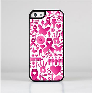 The Pink Collage Breast Cancer Awareness Skin-Sert Case for the Apple iPhone 5c