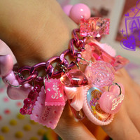Pretty In Pink Barbie Yummy Candy Charms Stretch by Kawaii4U