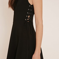 Contemporary Lace-Up Dress | LOVE21 - 2000152779