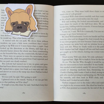 Magnetic bookmark of Zortus the Bulldog! Book accessories, Childrens art, School supplies, Book gift, Animal collectibles, BOOK FARM ANIMALS