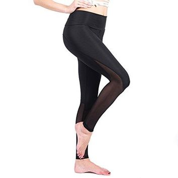 RoxZoom Womens Activewear Capri Pants Yoga Leggings Running Tights Sports Workout Leggings
