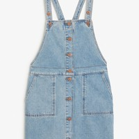 Monki | View all new | Denim pinafore dress