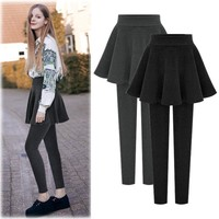 Winter Pleated Dress Pants Plus Size Leggings [11894767503]