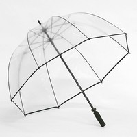Clear Golf Bubble Dome Umbrella Black Trim