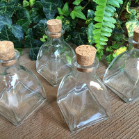 Pyramid Apothecary Bottles, For Herbs, Salts, Oils, Vinegars, Perfumes, Dirts and More.  1 Bottle. 2oz/60ml