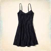 Wipeout Beach Lace Skater Dress