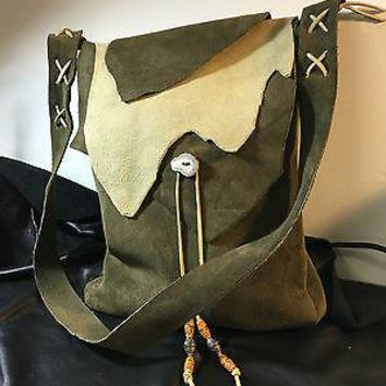 "Medieval Leather Artist's Bag, Handbag, 10""x12"" Custom."