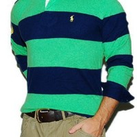 Polo Ralph Lauren Mens Cashmere Sweater Shirt Green
