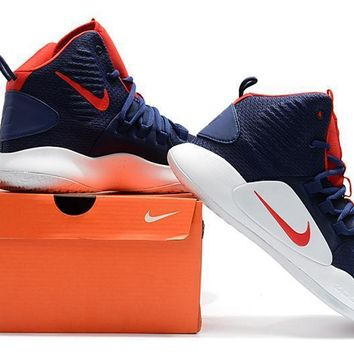 Nike Hyperdunk X EP Navy/Red Basketball Shoes