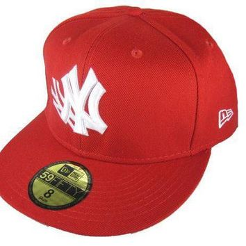 New York Yankees New Era Mlb Authentic Collection 59fifty Caps Red White
