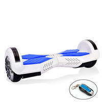 White and Blue 8 inch Self Balance Scooter - DCHVRBRD-1111