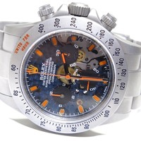 Rolex Daytona 116520 SS Chronograph Automatic Fully Customized Stunning Watch