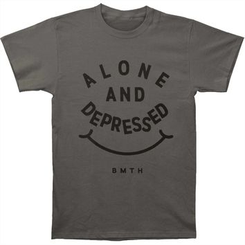 Bring Me The Horizon Men's  Alone & Depressed T-shirt Charcoal