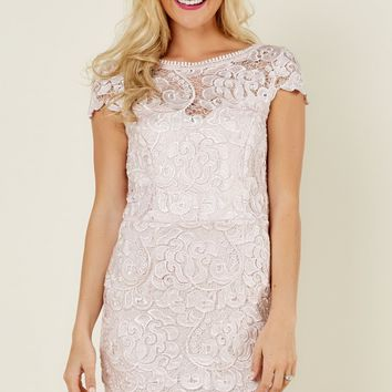 Ever After Guest Of Honor Pink Lace Dress