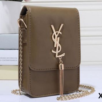 YSL Tassel Women Shopping Leather Metal Chain Crossbody Satchel Shoulder Bag H-MYJSY-BB
