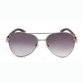 ONETOW Cartier wood leg metal foreign trade sunglasses leopard head with the same paragraph yurt mirror F-AJIN-BCYJSH  F