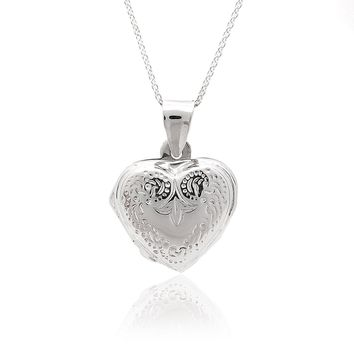 Sterling Silver Memorable Heart Shape Locket Necklace
