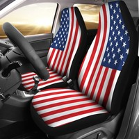 Patriotic Seat Covers American Flag