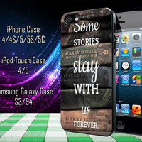 Harry Potter Old Books Samsung Galaxy S3/ S4 case, iPhone 4/4S / 5/ 5s/ 5c case, iPod Touch 4 / 5 case