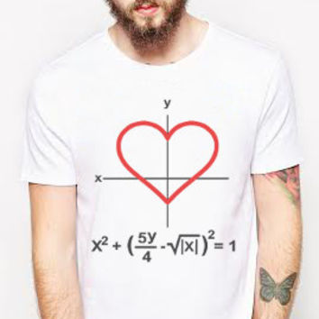 Coordinates of the Heart T-Shirt, Unisex Graphic Tee, Love T-Shirt, Math and Love, Best T-Shirts, Made in the USA, Valentine's Day Ideas