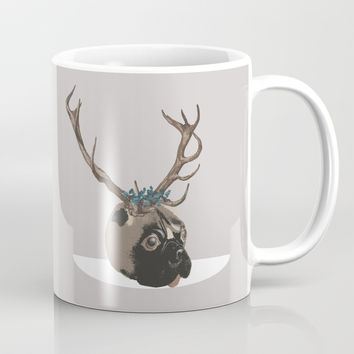 Pug Christmas Coffee Mug by anipani
