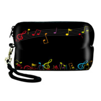 Musical Notes Camera Pouch Bag